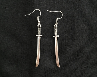 Samurai Sword Earrings