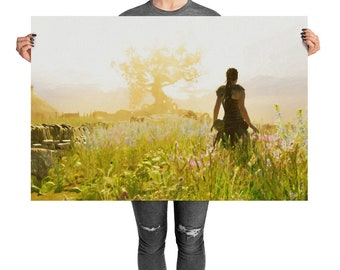 Dillion and the Tree - 36x24 Hellblade Inspired Art Print