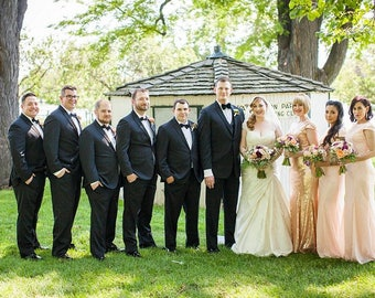 Blush pink sequin bridesmaid dress, Long sequin Prom dress