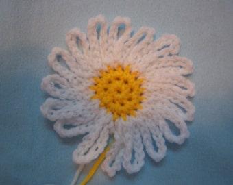 Crocheted Daisy Motif