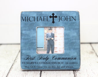 First Communion Gift Personalized Picture Frame First Holy Communion Cross