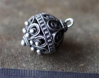 Vintage Sterling Silver Ottoman Bead. Balkans, 19- beginning of 20th century