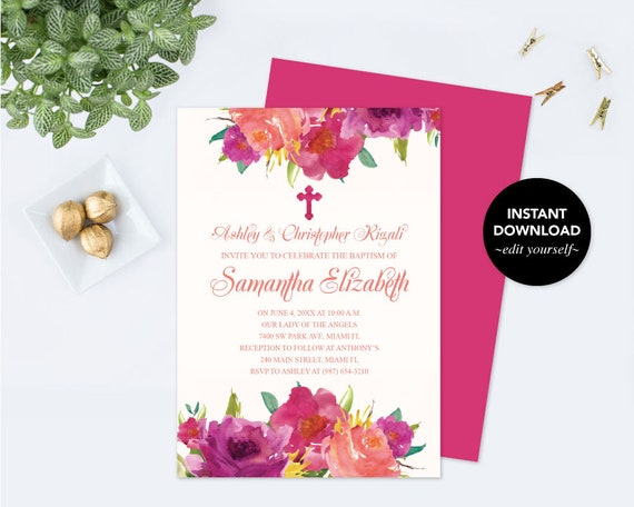 Girls first holy communion invite communion invitation girls first holy communion invite communion invitation girl communion diy invitations editable template invitation first communion solutioingenieria Images