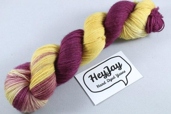 Hand Dyed Ultimate Sock Yarn, BFL High Twist - Gryffindor