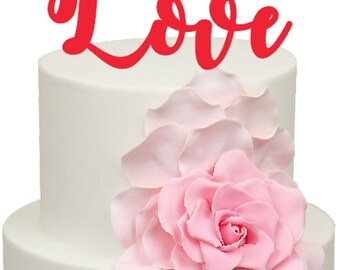Love Wedding Engagement Anniversary Acrylic Cake Topper