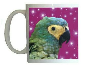 Red-bellied Macaw Parrot White 11oz Ceramic Coffee Mug