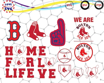 Boston Red Sox svg,png,dxf/Boston Red Sox clipart for Print/Design/Cricut/Silhouette and any more