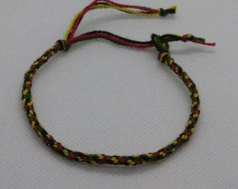 Cotton Rasta Bracelet. Unisex