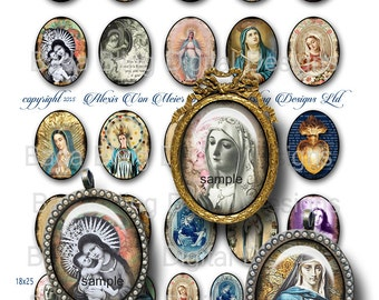 30mm x 40mm,Antique Prayer Cards &  Holy Cards sheet 2, INSTANT DOWNLOAD at Checkout, 22mm x 30mm, 18mm x 25mm incl...religious jewelry