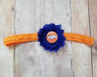 Denver broncos headband-denver Broncos girl-denver Broncos baby-denver broncos baby shower gift/broncos take home/girl broncos