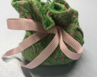 Green Nuno Felted Pouch