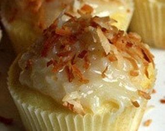 Malibu Rum Coconut Cupcakes