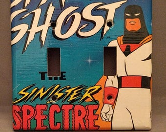 Space Ghost comic book decoupage light switch cover