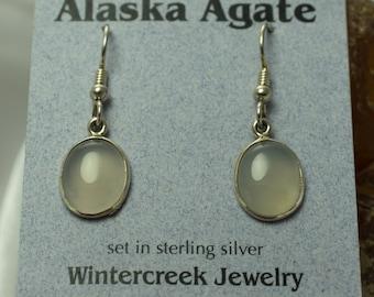 Handmade Alaska Agate Oval Earrings