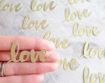 Love Glitter Gold Confetti 2 Inch