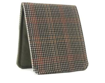 Men Minimalist Wallet / Slim Bifold Wallet / Brown Tweed