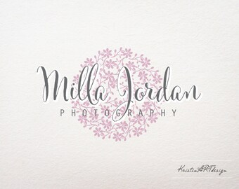 Photography Logo - Customized for any business logo - Premade Photography Logo- Circle logo-Stamp Logo - Watermark 136
