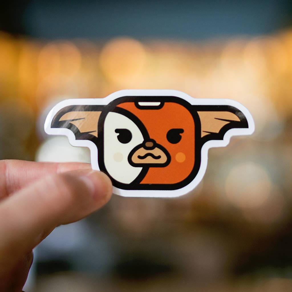 Sticker for laptop, GIZMO Sticker, Gremlins sticker, cool sticker, sticker  iPhone, halloween stickers, macbook decals, buy stickers, decals