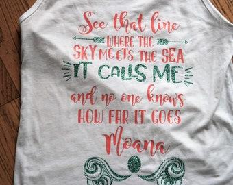 Disney Moana Inspired shirt; Mom and daughter Disney shirts; Custom Moana Tank; Moana Disney shirt for women; Disney gift for women