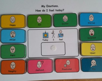 My Emotions- How I Feel Chart for SEN/ Visual Learners/Autism/ADHD/ADD/Pre-School and Learning Difficulties