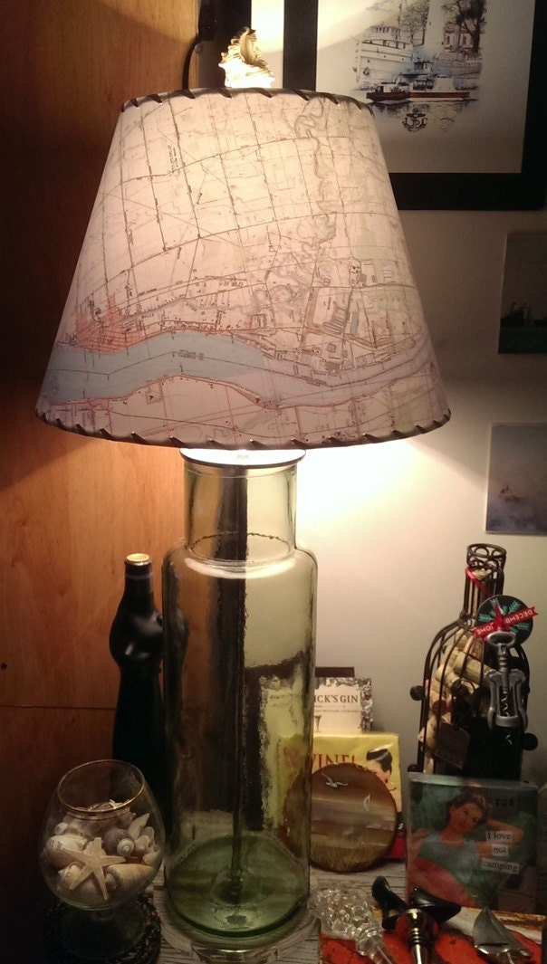 Map lamp shade custom topographic mapshade custom designed zoom aloadofball Choice Image