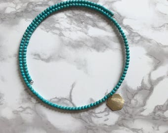 Turquoise Memory Wire Choker
