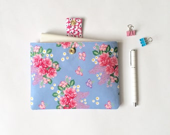 iPad Mini Cover, Padded Book Protector, Journal Pouch, Floral iPad Mini Case, Christmas Gift, Gift for Her, LoadedBobbins