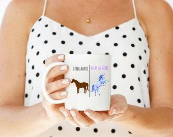 Aunt Mug   Unicorn Aunt   Funny Aunt Gift   Aunt Gift   Funny Mugs   New Aunt Gift   Unicorn Aunt Mug   Aunt Birthday Gift   Unicorn Mug