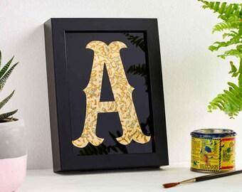 Cuivre, lettrage, typographie, cuivre Home Decor, monogramme, cadeau d'anniversaire, de Bohème, personnalisé cadeau, Art mural, Design graphique, décoration d'intérieur