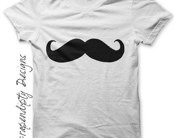 Mustache Iron on Transfer - Mens Iron on Shirt PDF / Mens Mustache Shirt / Little Man Birthday Photo Props / Kids Boys Clothing Top IT99