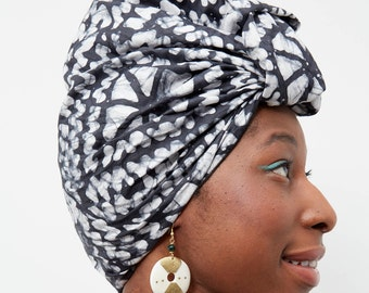 Headwrap - black and white