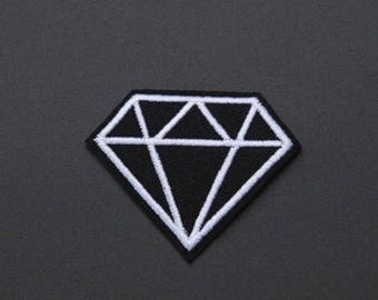 Diamond Patch - Iron on Patch, Sew On Patch, Embroidered Patch, Embroidered Applique, Patch For Jeans