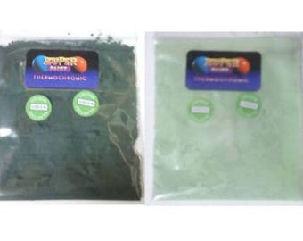 Thermochromic Temperature Colour Changing Powder 31c Dark Black Green to Green