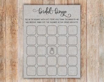 Grey Bridal Shower Bingo. Bridal Bingo. Printable Bridal Shower Bingo. Bridal Bingo Instant Download. Printable Bridal Bingo. Bingo Template
