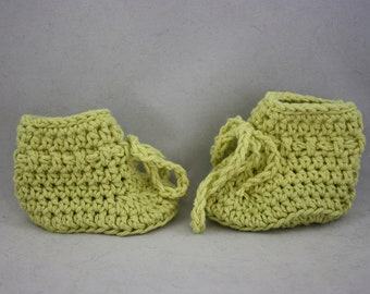 baby booties, booties, hand knit booties, knit booties, washable booties, hand knits, green booties