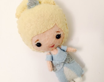 Cinderella-Inspired Felt Doll. Princess.