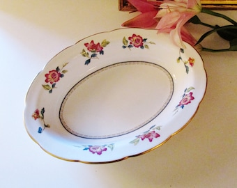 Wedgwood Chinese Flowers Serving Bowl, Chinoiserie Dish, Colonial Williamsburg Foundation, English Country, Vegetable Bowl