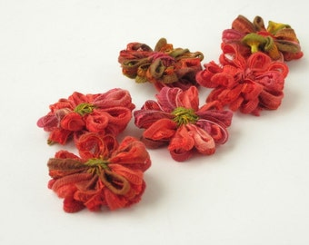 Ribbon Flower Appliques, Indian Summer