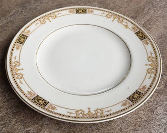 """Vintage Old Ivory Syracuse China Made in America Wester Dessert Plate 7 1/4"""""""