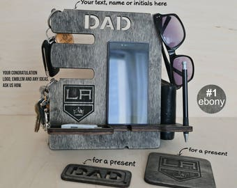 Personalized gift, docking station, Charging Station, Los Angeles Kings, personalised gift, hockey gifts, phone stand, personalized gifts