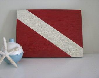 Diver Down Nautical Signal Flag Sign