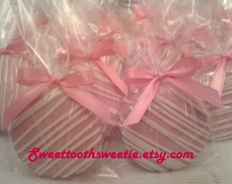 Baby Shower Pink Chocolate Covered  Oreos Cookies It's A Girl Pink Baby Shower Christening Gender Reveal Party Pink Princess Christening