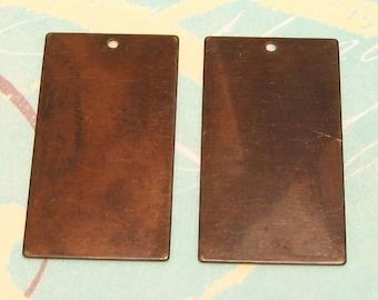 Vintaj  Brass Rectangle Blank 2 pc. V40