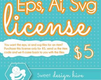EPS, AI, SVG license