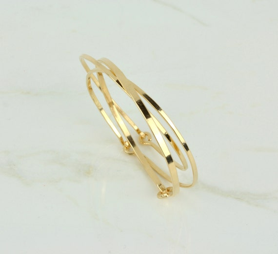 jewelry wide gold bracelet id retro thick bangle j l ridged at for sale bracelets bangles hinged