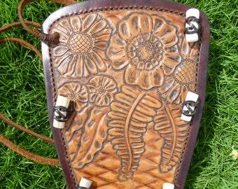Floral Leather Archery Arm Guard