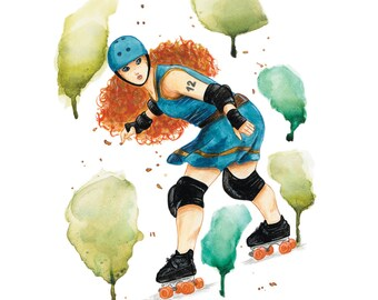 The Arrow - poster A3 - Roller Derby