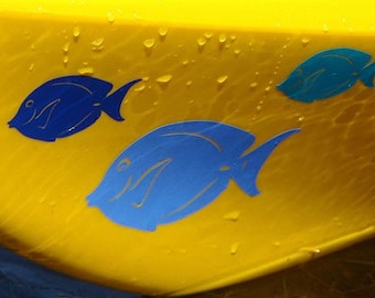 Blue Tang, SMALL, Kayak Decal