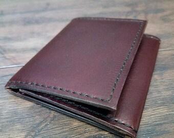 Cobblersstitch trifold wallet Horween chromexcel leather.