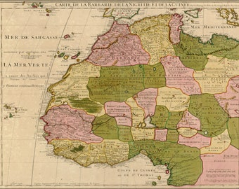 Poster, Many Sizes Available; Carte De La Barbary Map 1718 West Africa